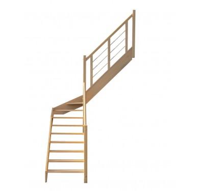 Escalier 1 4 millieu droit sans contremarche H300XR201CM