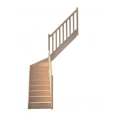 Escalier 1|4 millieu droit avec contremarche H280XR201CM