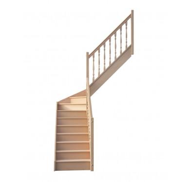 Escalier 1 4 millieu droit avec contremarche H280XR201CM