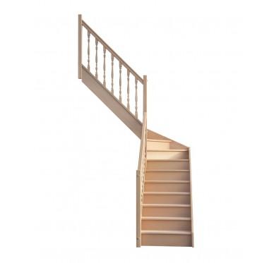 Escalier 1|4 milieu gauche avec contremarche H280XR201CM
