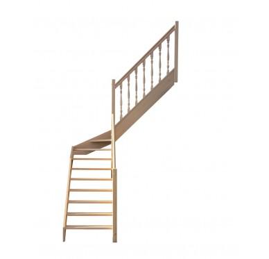 Escalier 1|4 millieu droit sans contremarche H280XR201CM