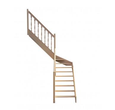 Escalier 1|4 milieu gauche sans contremarche H280XR201CM