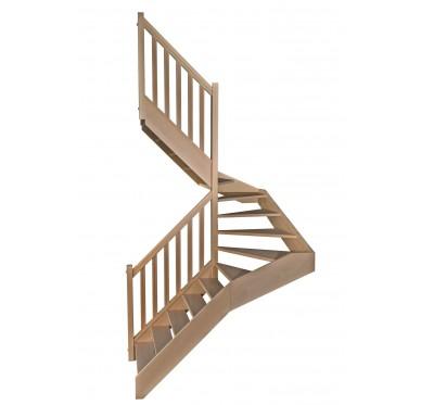 Escalier 1|2 tournant gauche sans contremarche H300CM