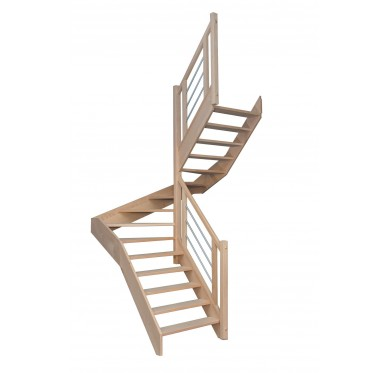 Escalier 1|2 tournant droit sans contremarche H280CM