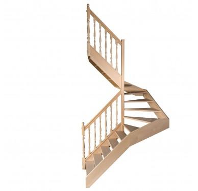 Escalier 1 2 tournant gauche sans contremarche H280CM