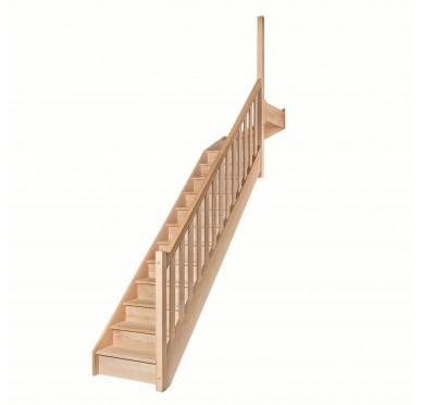 Escalier 1|4 haut droit avec contremarche H280XR291CM