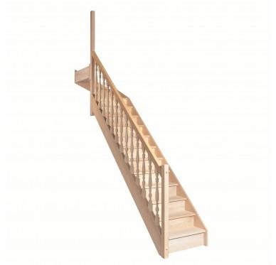 Escalier 1 4 haut gauche avec contremarche H280XR291CM