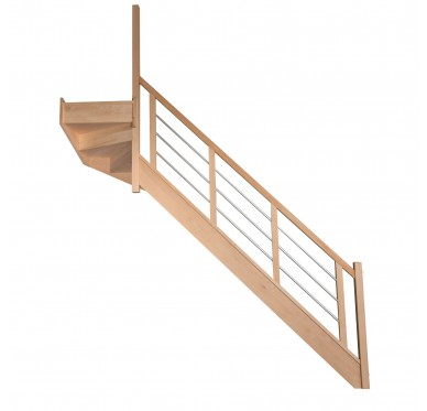 Escalier 1|4 haut gauche avec contremarche H280XR291CM