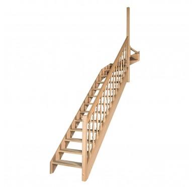 Escalier 1 4 haut droit avec contremarche H280XR291CM