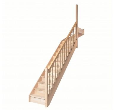 Escalier 1|4 haut droit avec contremarche H272XR291CM