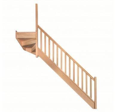 Escalier 1|4 haut gauche avec contremarche H272XR291CM