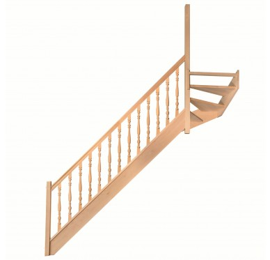 Escalier 1|4 haut droit sans contremarche H272XR291CM