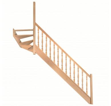 Escalier 1|4 haut gauche sans contremarche H272XR291CM
