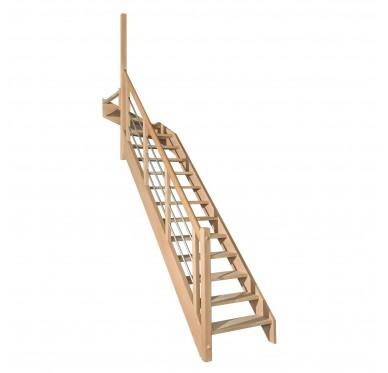 Escalier 1 4 haut gauche sans contremarche H272XR291CM