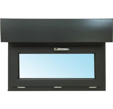 Fenêtre abattant en PVC H45xL60cm, volet roulant intégré