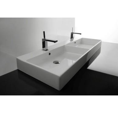 Vasque à poser ou à suspendre, modèle unlimited, 120cm