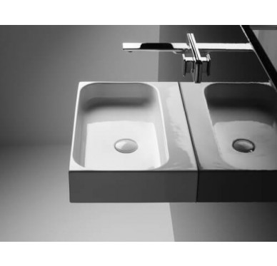 Vasque à poser ou à suspendre, modèle unit, 80cm