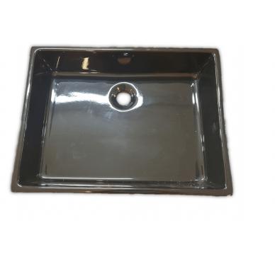 Vasque à poser ou à suspendre, modèle unlimited noir, 50cm