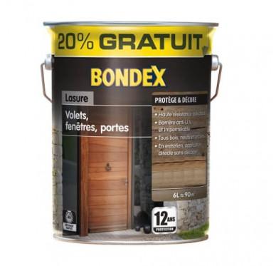 Lasure Bondex 12 ans, Volets, fenêtres, portes, Blanc cérusé satiné