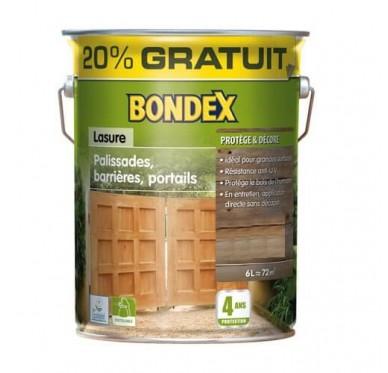 Lasure Bondex 4 ans, Palissades, barrières, portails, Frêne patiné satin