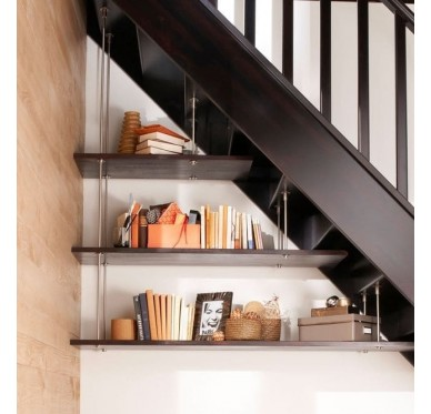 Kit 3 étagères pour aménagement sous escalier