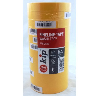 Paquet de 12 Rouleau adhésif protection orange 18 mm