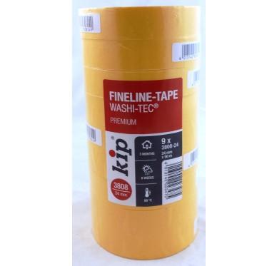 Paquet de 9 Rouleau adhésif protection orange 24 mm