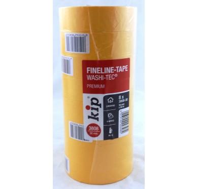 Paquet de 8 Rouleau adhésif protection orange 30 mm