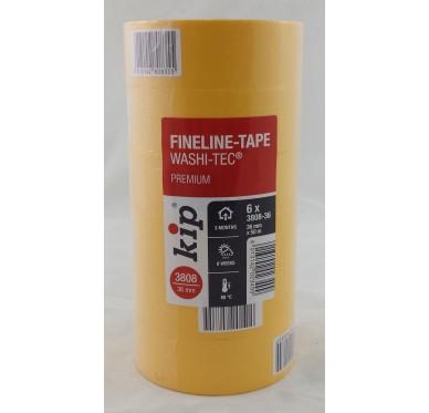 Paquet de 6 Rouleau adhésif protection orange 36 mm