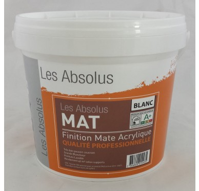 Peinture Acrylique Mat Blanc 4 litres