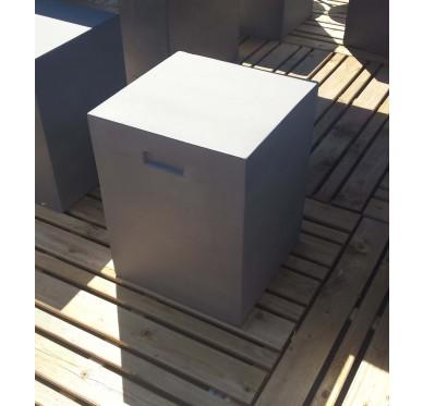 Tabouret MGO effet béton 35 x 35 x 45 cm