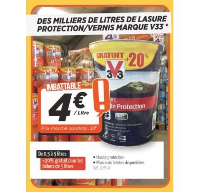 Lasure protection/vernis marque V33