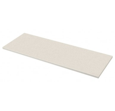 Plan de toilette blanc perlé 126 x 63.5 cm Ép. 37mm