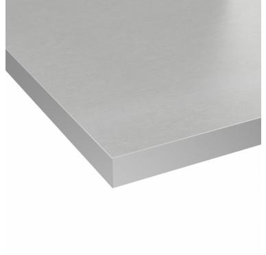 Plan de toilette gris 126 x 63.5 cm Ép. 37mm