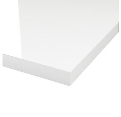 Plan de toilette blanc brillant 60.3 x 49 cm Ép. 38mm