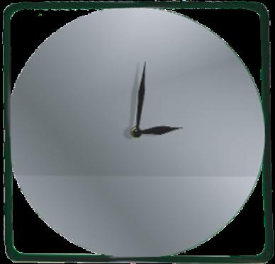 Horloge reflet métal