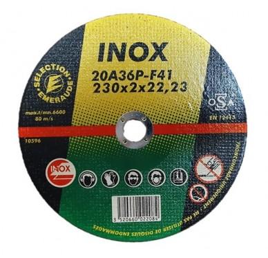 Disque à tronçonner Diam 230 MM Inox, lot de 5