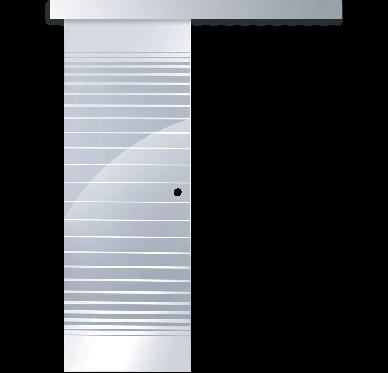 KIT porte coulissante vitrée 83cm