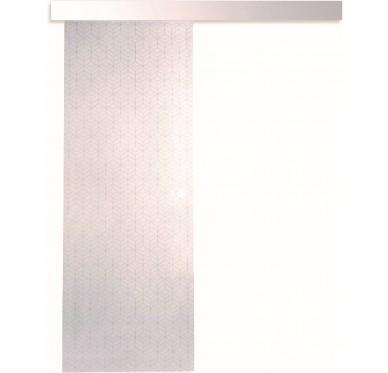 Kit coulissant + Porte intérieure seule vitrée 203,5 cm x 83 cm