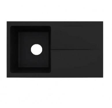 Evier Noir granité 1 bac + égouttoir