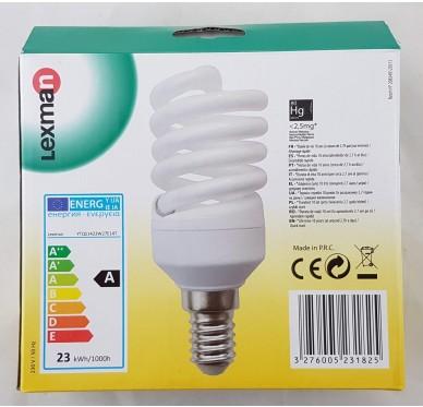 Lot 3 ampoules E14-23w/R100W