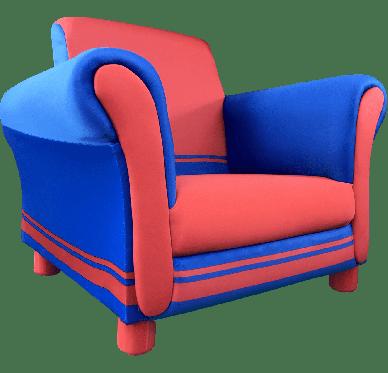 Fauteuil Rouge et Bleu 58,5x44x46,5cm