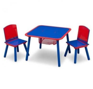 Table/Chaises Rouge et Bleu