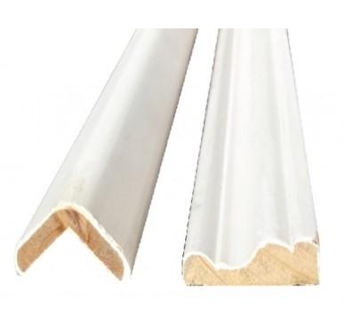 IMBATTABLE Moulure en MDF blanc longueur 2m ou 2,40m
