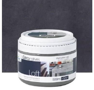 Peinture Les Décoratives Loft Madrid effet béton ciré 500ml