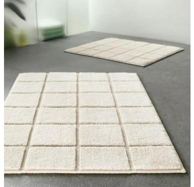 Tapis Spirella Tile Bathmat 60x90cm Natura White