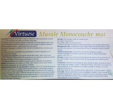 Peinture Virtuose 2,5L, Blanc Coton Mat