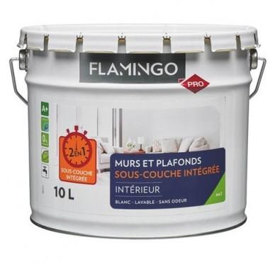 Peinture FLAMINGO Murs et Plafonds avec sous-couche intégrés