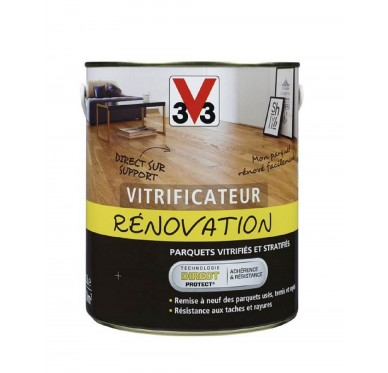 Vitrificateur V33, rénovation, incolore, satin, 0.75 l