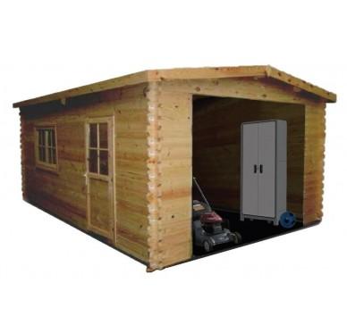 Garage bois emboité 'MURAVA' 560 x 398 cm
